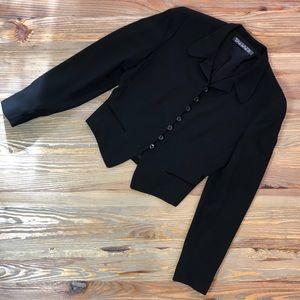 Tahari Black Short Blazer